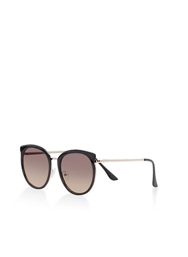 Painted Metallic Sunglasses,BLACK,large