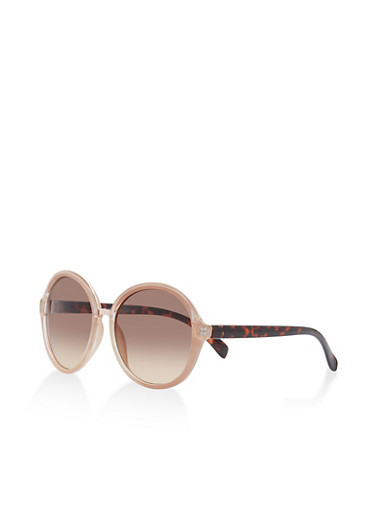 Large Round Sunglasses,BLUSH,large