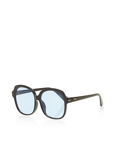 Thick Frame Colored Sunglasses,BABY BLUE,large