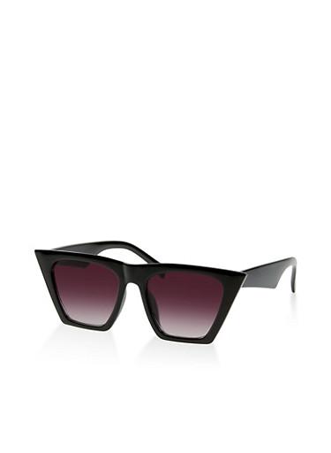 Angular Cat Eye Sunglasses   3133004265497,BLACK,large