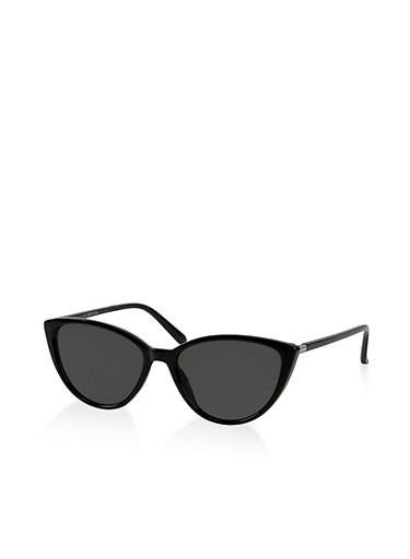 Plastic Cat Eye Sunglasses | 3133004265562,BLACK,large
