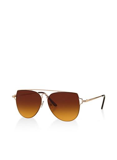 Geometric Top Bar Aviator Sunglasses | Tuggl