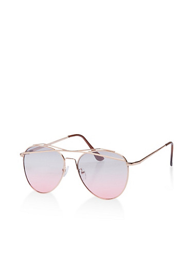 Criss Cross Top Bar Aviator Sunglasses,GRAY,large