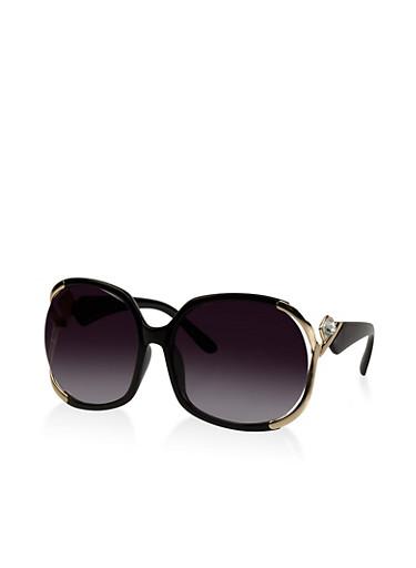 Oversized Metallic Detail Sunglasses   Tuggl