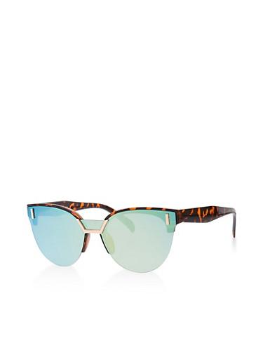 Shield Cat Eye Sunglasses   Tuggl