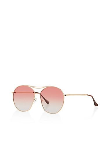 Oversized Aviator Sunglasses,GREEN,large