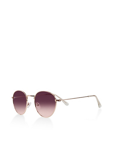 Round Colored Sunglasses,PURPLE,large