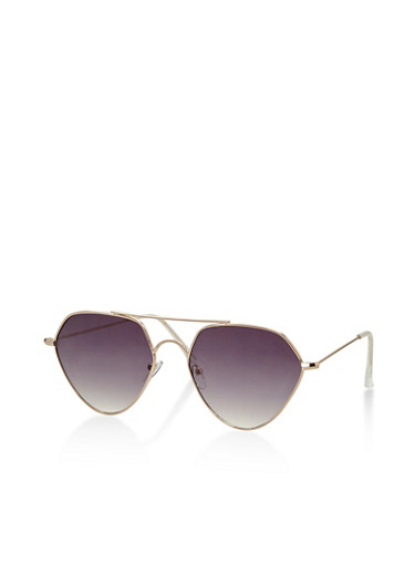 Geometric Colored Sunglasses,GRAY,large