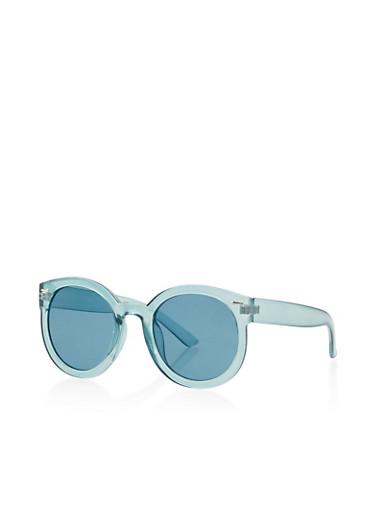 Plastic Colored Sunglasses,TEAL,large