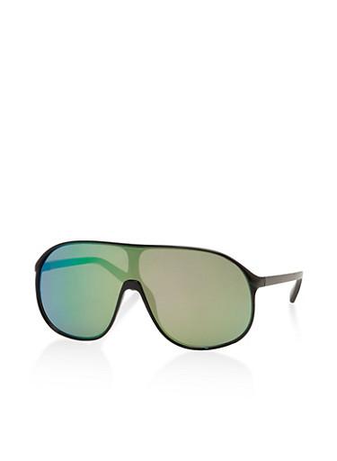 Shield Sunglasses,BLACK,large
