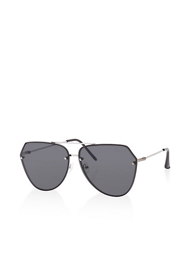Geometric Aviator Sunglasses   Tuggl