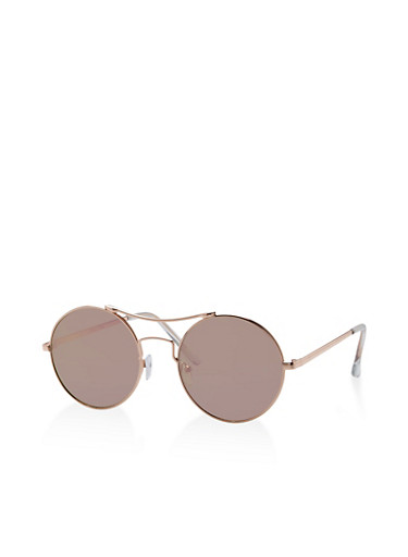 Circular Metallic Top Bar Sunglasses | Tuggl