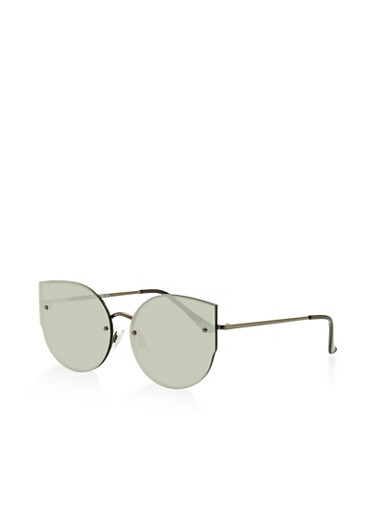 Rimless Color Cat Eye Sunglasses | Tuggl