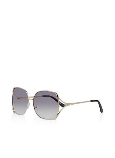 Metallic Open Side Sunglasses | 3134004261114,GRAY,large