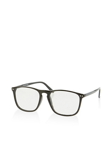 Clear Glasses,BLACK,large