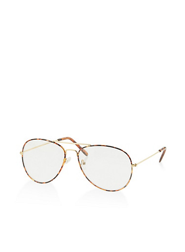 Top Bar Aviator Glasses,CLEAR,large