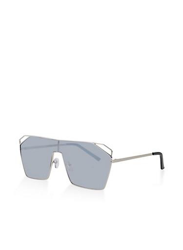 Tinted Cat Eye Sunglasses,GRAY,large