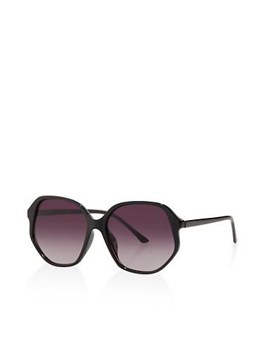 Plastic Geometric Sunglasses | 3134004265550,BLACK,large