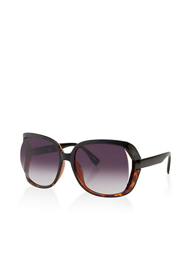 Open Side Plastic Sunglasses | 3134056179174,BLACK,large