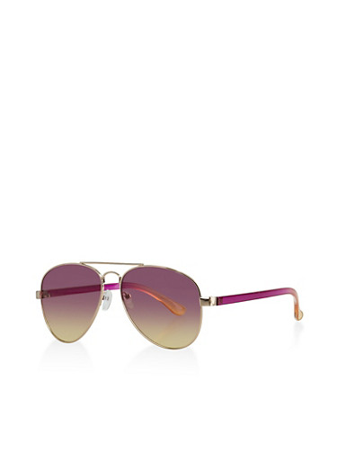 Top Bar Aviator Sunglasses,PURPLE,large
