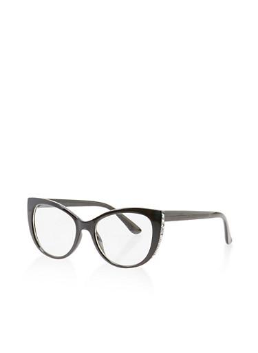 Druzy Edge Glasses,BLACK,large