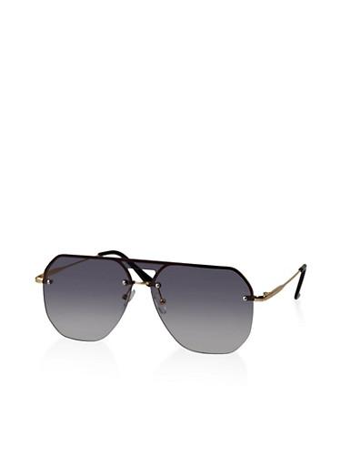 Rimless Aviator Sunglasses | 3134073216630,GRAY,large