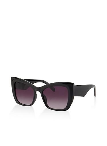 Plastic Cat Eye Sunglasses | 3134073219696,BLACK,large
