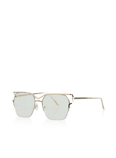 Metallic Cutout Glasses,GOLD,large