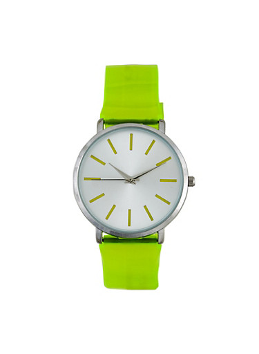Jelly Strap Watch,LIME,large