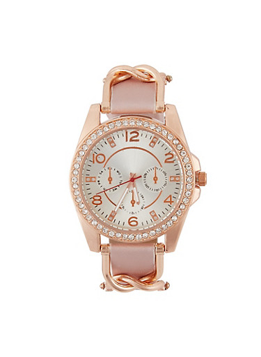 Chain Link Detail Watch,ROSE,large