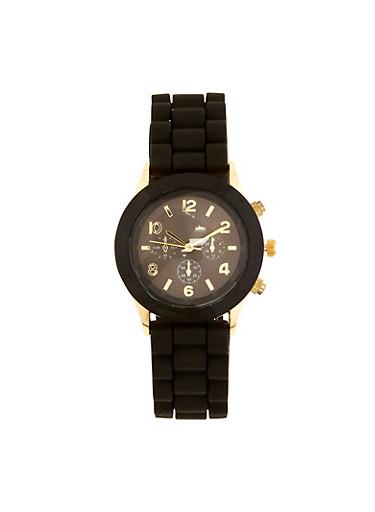 Rubber Strap Watch   3140071432785,BLACK,large