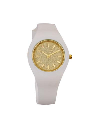 Glitter Two Tone Watch,WHITE,large