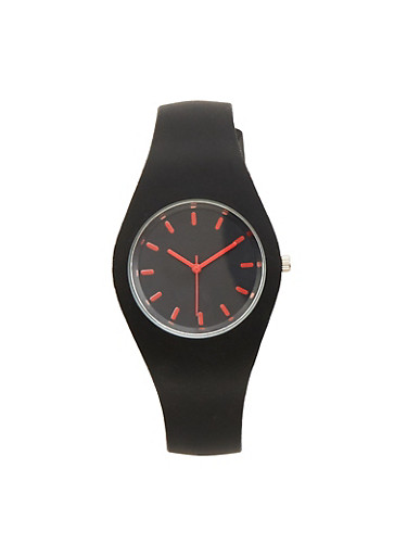 Silicone Watch,BLACK,large