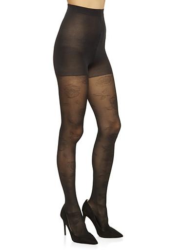 Textured Tights,BLACK,large