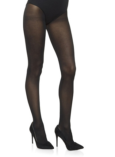 Opaque Colored Tights,BLACK,large