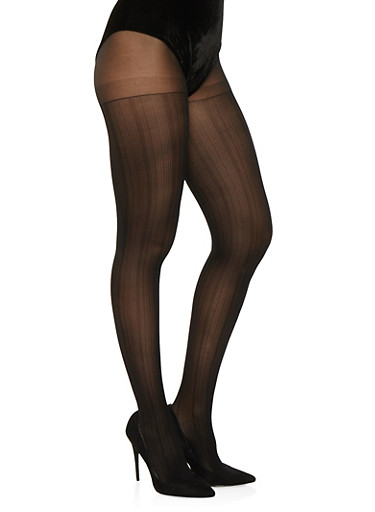 Textured Tights,BLACK,large