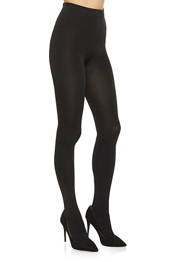 Footed Fleece Tights,BLACK,large