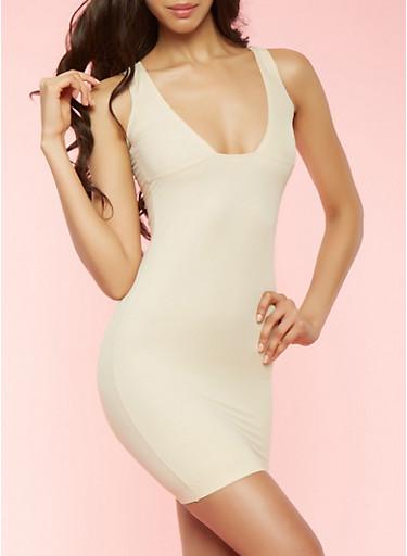 Nude Shapewear Slip Dress | Tuggl
