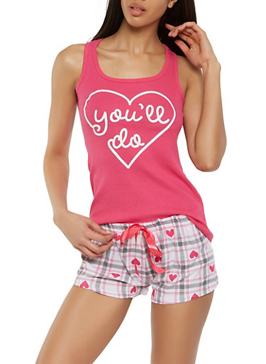 Graphic Heart Tank Top and Pajama Shorts at Rainbow Shops in Jacksonville, FL   Tuggl