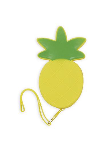 Jelly Pineapple Wristlet,YELLOW,large