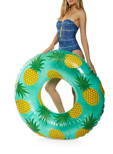 Pineapple Print Pool Float,YELLOW,large