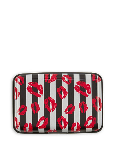 Striped Lip Graphic Card Wallet | Tuggl