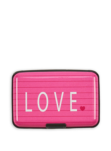 Love Notebook Print Card Wallet,MULTI COLOR,large