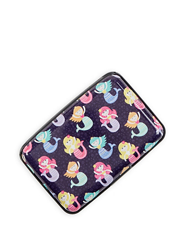 Mermaid Print Card Wallet,MULTI COLOR,large