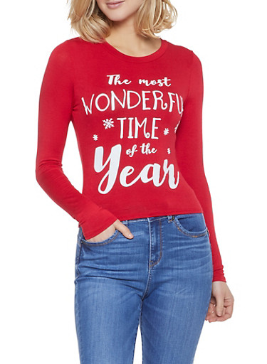 The Most Wonderful Time of the Year Tee,RED,large