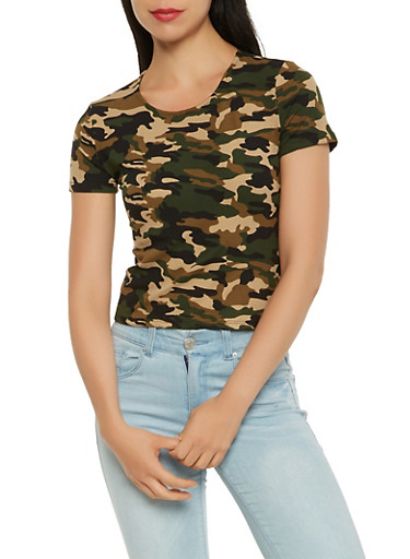 Soft Knit Printed Tee,CAMOUFLAGE,large