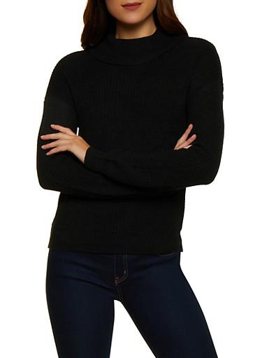 Long Sleeve Turtleneck Sweater | 3403015996151,BLACK,large