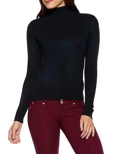 Solid Turtleneck Sweater | 3403062704709,BLACK,large