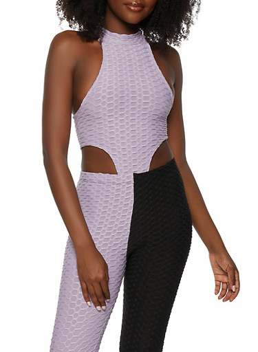 High Cut Honeycomb Knit Bodysuit