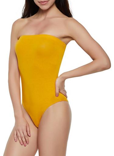 Solid Tube Bodysuit | 3405066493292,MUSTARD,large